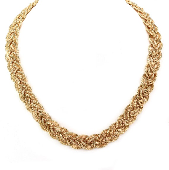 24230 - Estate 14k Yellow Gold Multi-Chain Braided