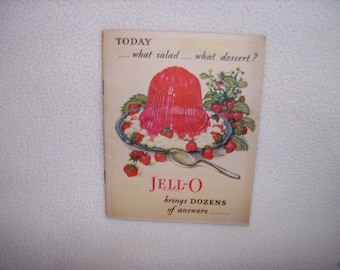 Vintage 1928 Jello Recipe Book