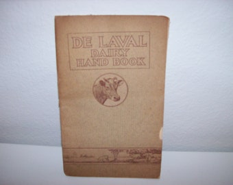 Vintage Milk Production Record Book from the De Laval Dairy