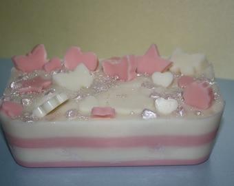 Peony Suede Blush & Jasmine soy wax loaf
