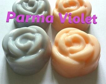 4 Large Parma Violet flower melts
