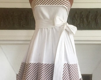 St Tropez darling! 1950's vtge cotton sun dress