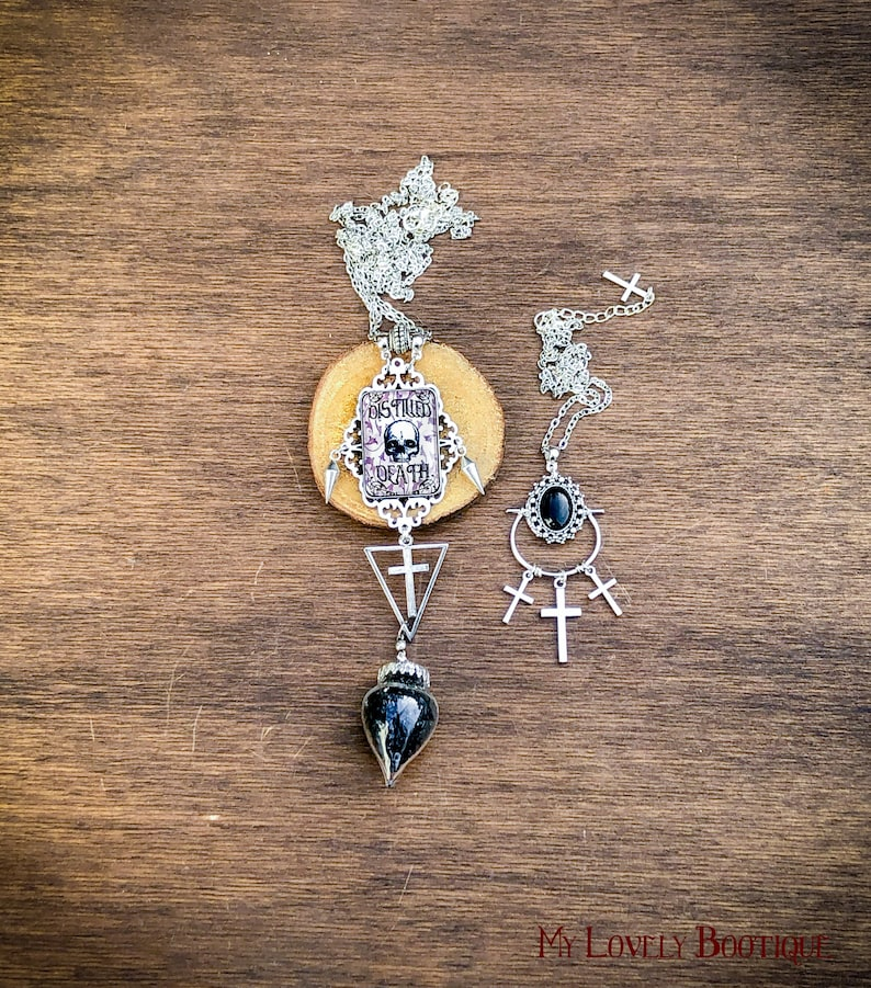Distilled Death a set of two necklaces