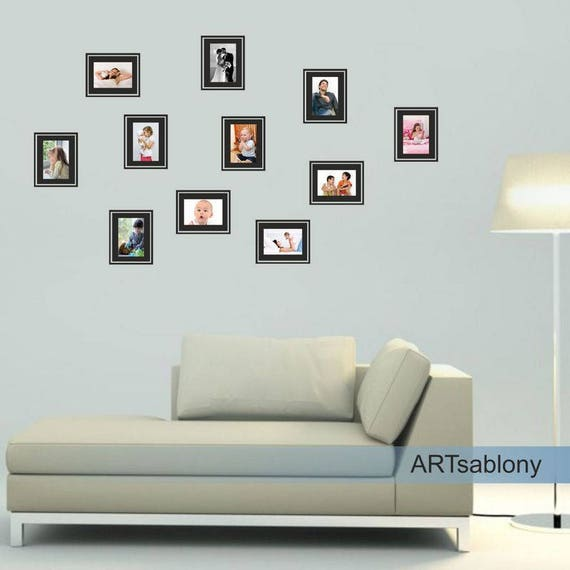 Wall sticker Frames for photos 3648n | Etsy