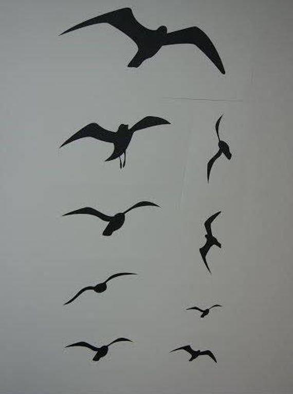 fliegende vögel malen  vorlagen zum ausmalen gratis