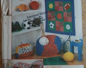 UNCUT Simplicity 7771 Computer covers, bean bag chair cover, wall hanging, bag and pillows