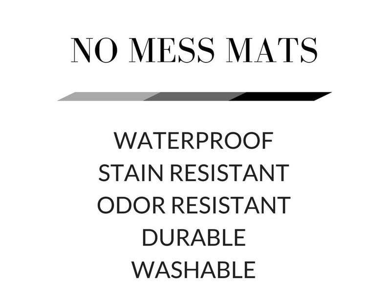 Dog Food Mat Non Slip Mat Non Skid Mat Choose Your Size Waterproof Cat Placemat Cat Food Mat Herb Green Dog Placemat No Mess Mat