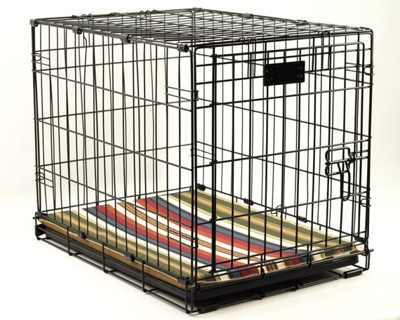 large waterproof dog crate pad 42x28 choose your fabric non etsy