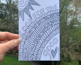 Look for the Good COLOR YOUR OWN  Postcard pack of 5  | Snail Mail | Pittsburgh Gift | Mae Street Designs