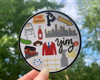 Iconic All About Pittsburgh Sticker or Magnet | Pittsburgh gift | Mae Street Designs vinyl sticker | laptop sticker | planner sticker
