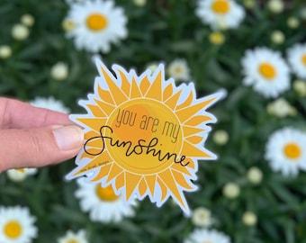 You are my sunshine Sticker or Magnet | vinyl sticker | planner sticker | Mae Street Designs