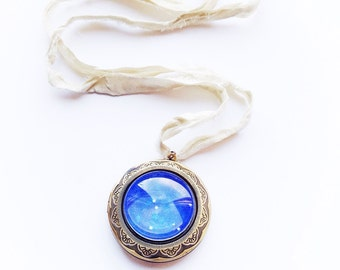 Cancer Star Constellation Zodiac Locket Necklace