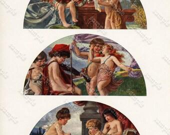 Lunettes D/' Enfants Antique Original  Decorative Art Print  from Le Journal  De La Decoration