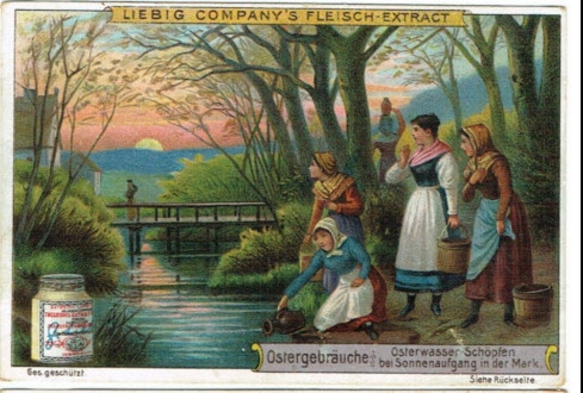 Liebig German easter customs Collecting Osterwasser