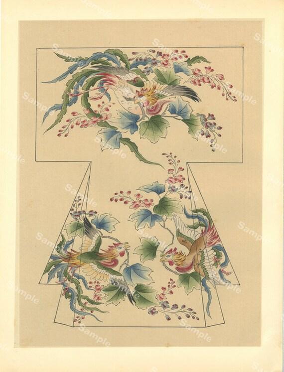 Sweat Shirt Homme Estampe Japonaise 2 Plantes Art Délicat Original Vintage
