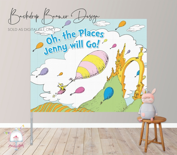 photo about Printable Backdrop named Oh, The Destinations Youll Shift! Backdrop Banner - Printable