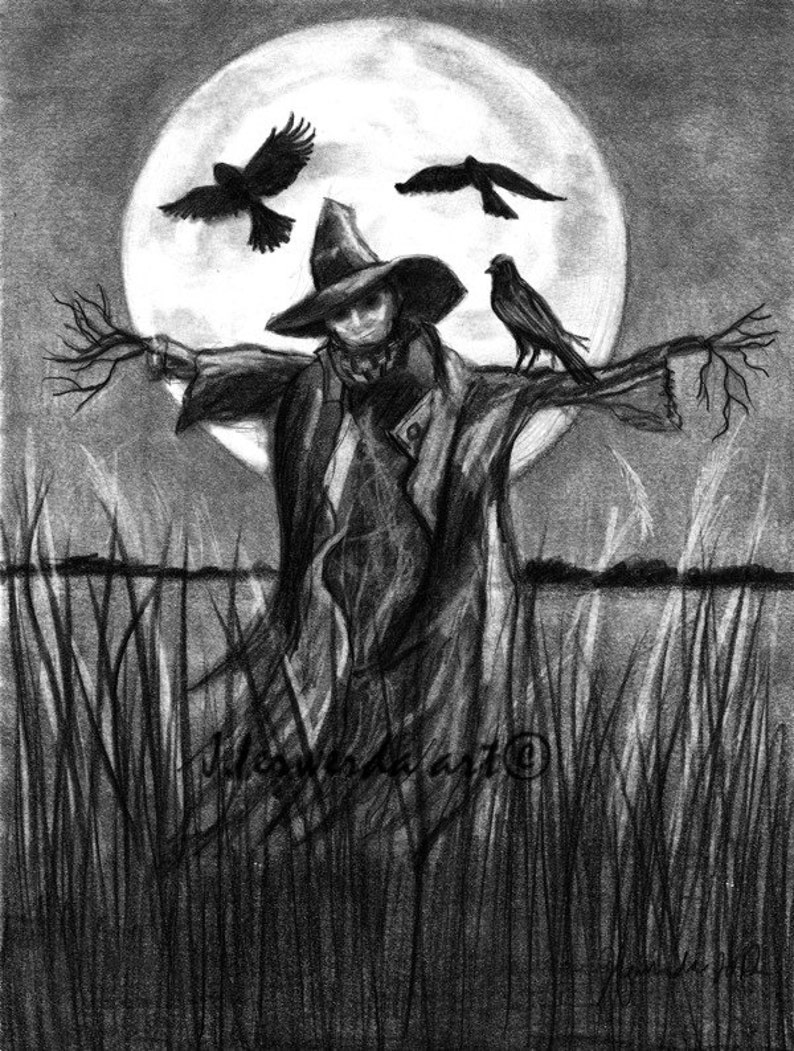 Pencil drawing print moon laughs and whispers day 287