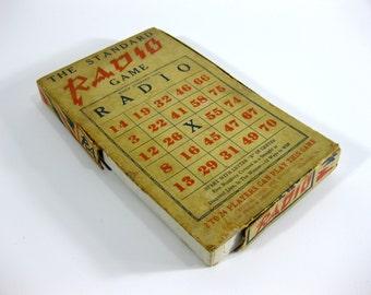 Vintage ~ The Standard Radio Game ~ Toy Bingo With Box