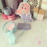 Mermaid Hair Clip Holder - bow holder - hair accessories - accessories holder - personalised