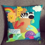 Noah's Ark Personalised Christening cushion - Baptism - Christening gift - Noah's Ark
