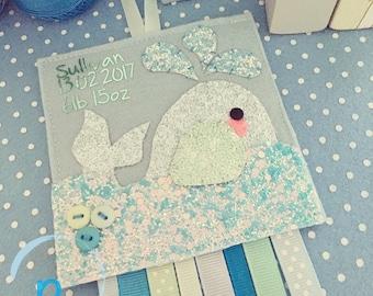 Baleine twiggy - cadeau personnalisé baleine décoration - nouveau-né - nouveau bébé