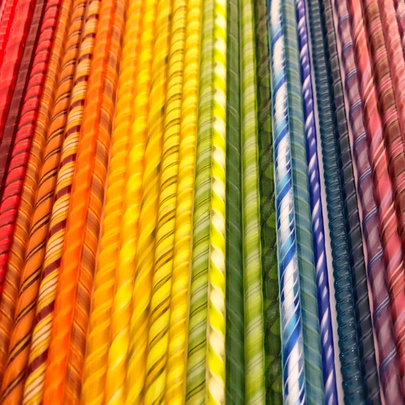 Rainbow Assortment Twisted Cane Pack 90 Coe