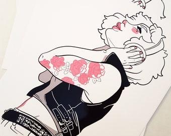 Rose Tattoo-print