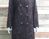 beautiful chocolate brown persian lamb 1960 39 s overcoat - high quality