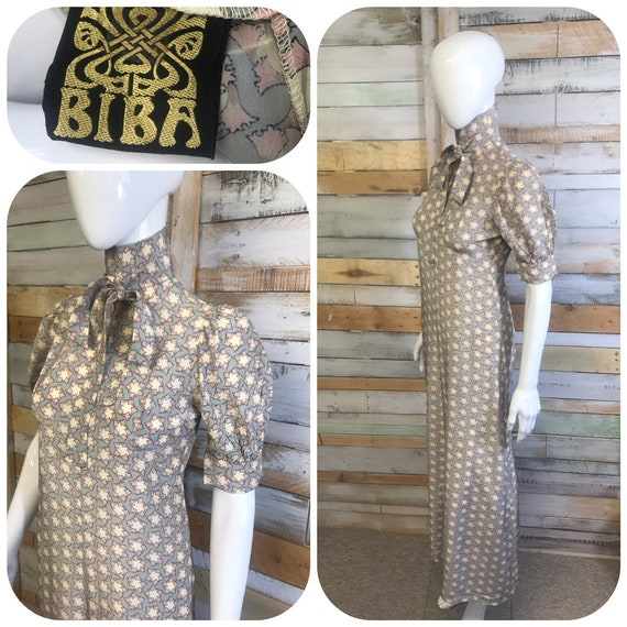 Biba 1960's rare silk maxi dress immaculate and in