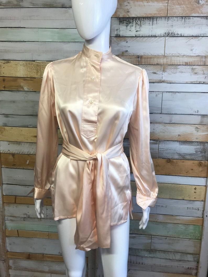 Beautiful PALE pale pink silk shirt Turnball /& Asser 8