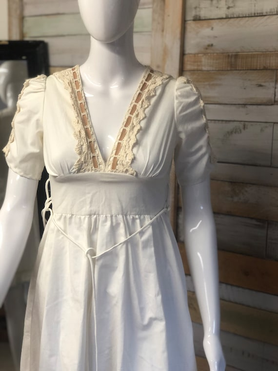 Gunne Sax original cream dress xs - image 6
