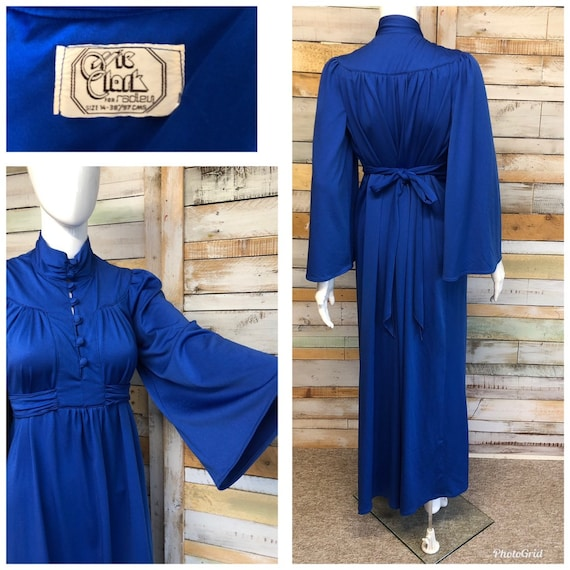 Vintage rare Ossie Clark for Radley electric blue