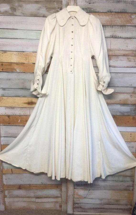 Bill Gibb Ivory crepe dress/ wedding dress as desc
