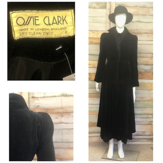 Rare Ossie Clark velvet full length coat