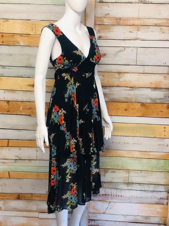 Ossie Clark 1970's  floral chiffon dress in Celia