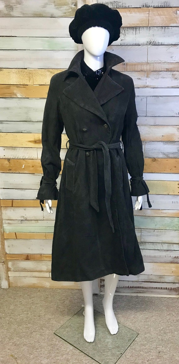 French Ikks 1970s Style Trench Coat With Lovely Details 10/12 by Etsy