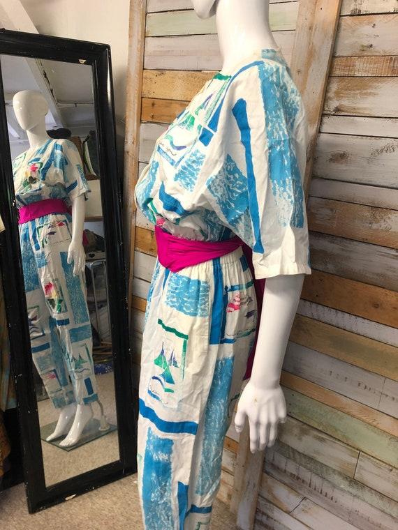 """MISS YOU"""" 1980s cotton jumpsuit"""