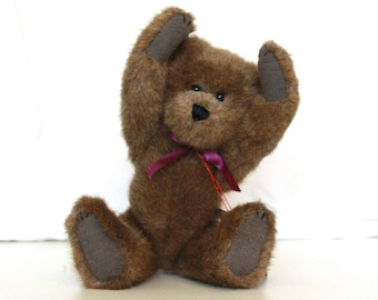 Raleigh Boyds Bear Vintage Collectible stuffed Brown Bear jointed plush