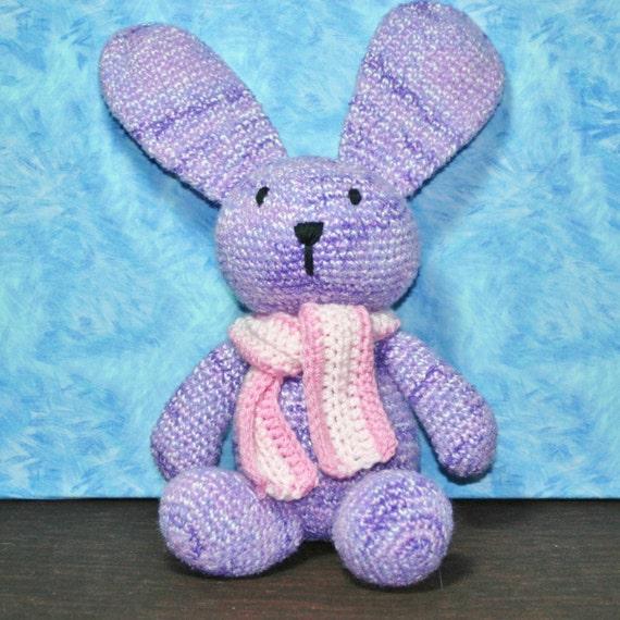 Crochet Stuffed Bunny Stuffed Floppy Eared Etsy
