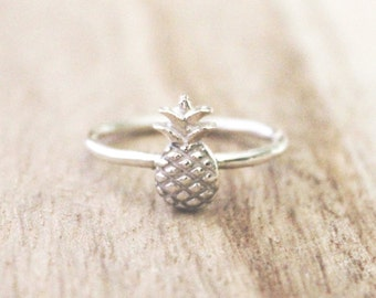 Tiny Pineapple Ring, Sterling Silver Ring, Pineapple Ring, Pineapples, Pineapple, Sterling Silver Pineapple Ring, Silver Pineapple