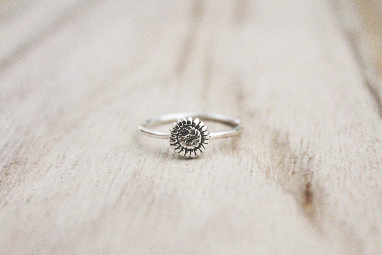 3c8661dc0 Sunflower ring sterling silver ringsunflowers sunflower | Etsy