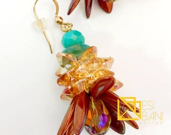 Iris Copper Flirty Sizzle Earrings