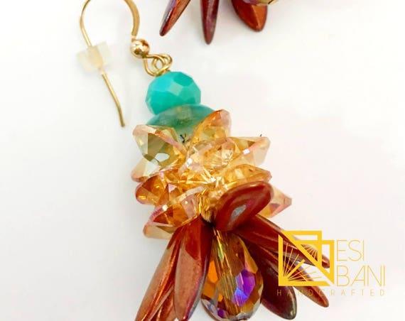 Iris Copper Flirty Sizzle Earrings