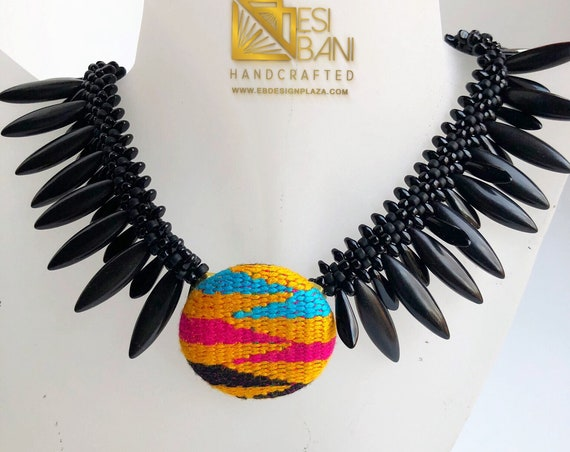 Kente Jewel Necklace