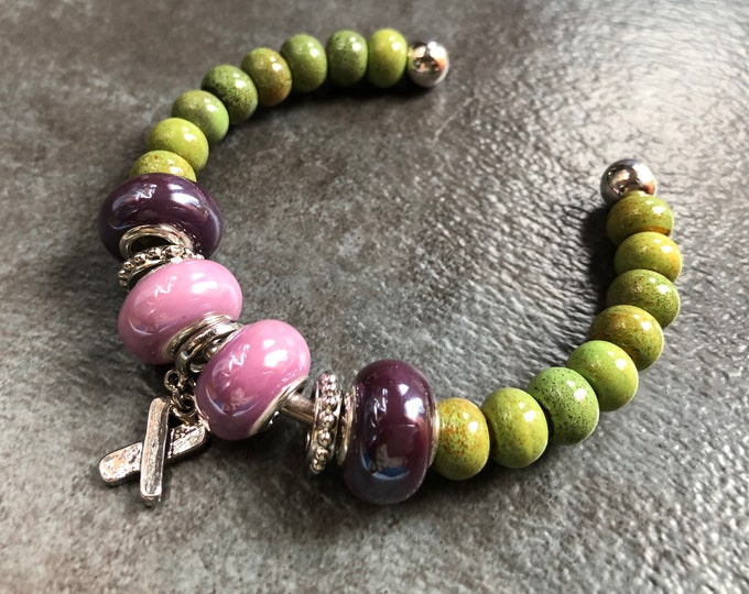 Chartreuse Pink, 'n' Purple Bracelet