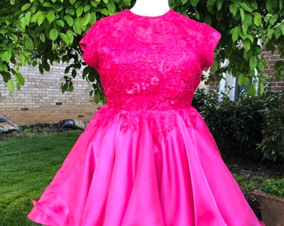 Azalea Bloom hi-lo Dress, Special Occasion, Couture Dress, prom dress, wedding guest, guipure lace and organza dress, party dress