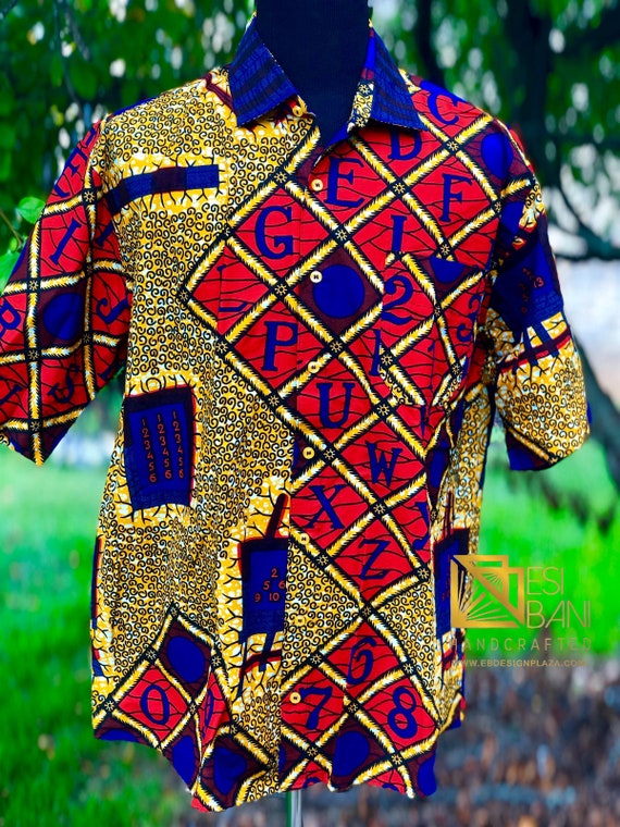 African clothing for men-Button down L-3X