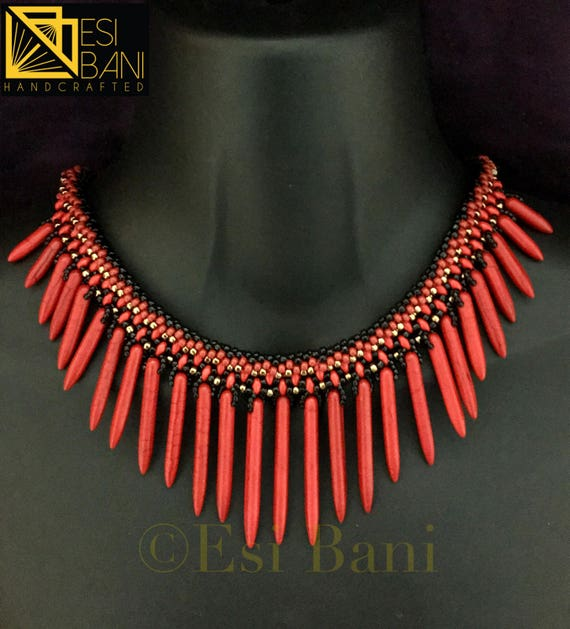 Paint the Town Red Necklace