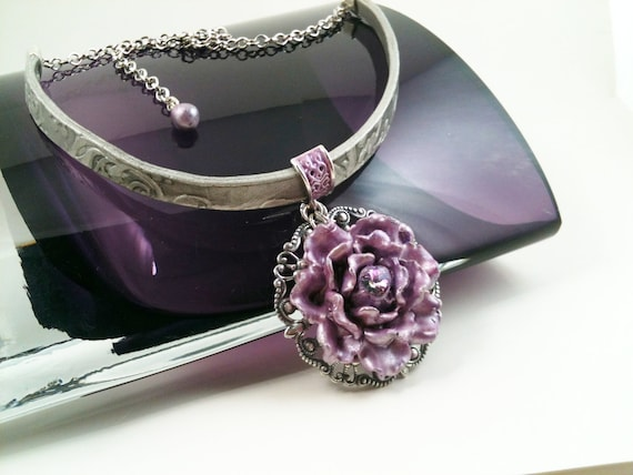 Lavender Passion Choker Necklace