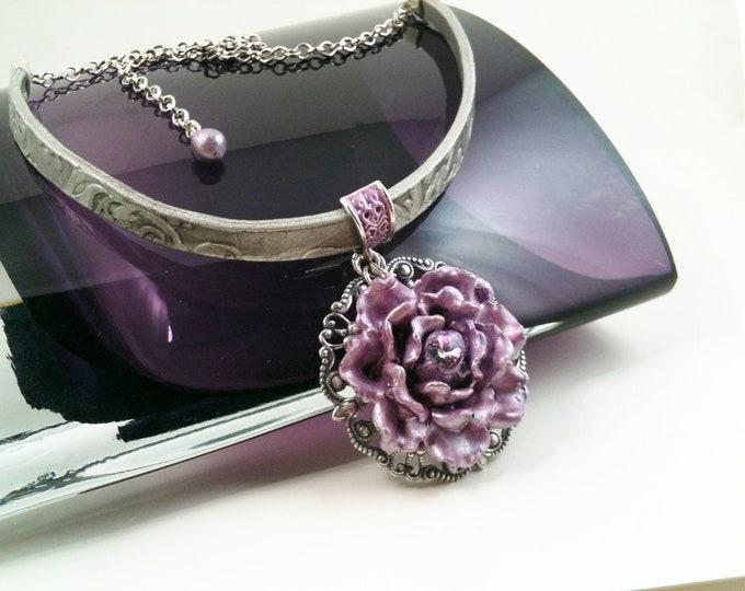 Lavender Passion Choker Necklace